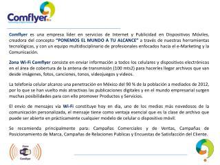 Ventajas de Zona Wi -Fi Comflyer