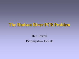 The Hudson River PCB Problem
