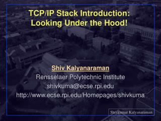 TCP/IP Stack Introduction: Looking Under the Hood!