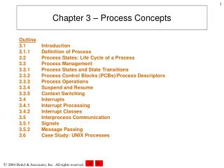 Chapter 3 – Process Concepts
