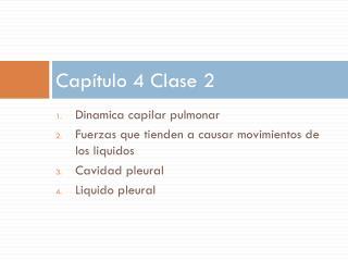 Capítulo 4 Clase 2
