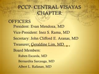 PCCP- CENTRAL VISAYAS CHAPTER
