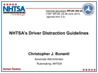 NHTSA's Driver Distraction Guidelines