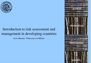Introduction to risk assessment and management in developing countries