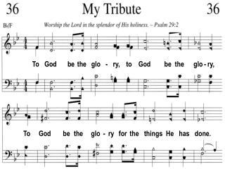 To God be the glo - ry, to God be the glo - ry,