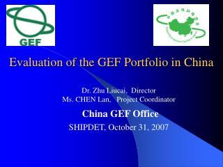 Evaluation of the GEF Portfolio in China