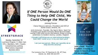 Joining Forces  Cheryl DeLuca-Johnson, President and CEO of Street  Grace, Atlanta, GA