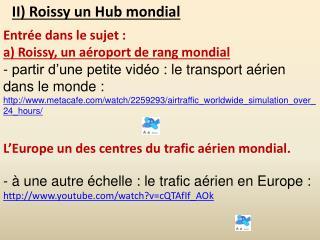 II) Roissy un Hub mondial