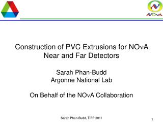Construction of PVC Extrusions for NO n A Near and Far Detectors
