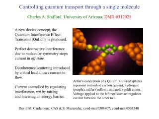 Controlling quantum transport through a single molecule