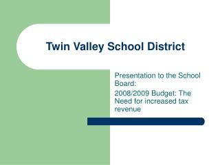 Twin Valley School District