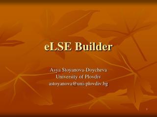 eLSE Builder