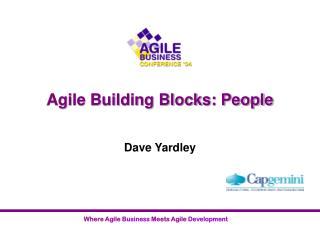Agile Building Blocks: People