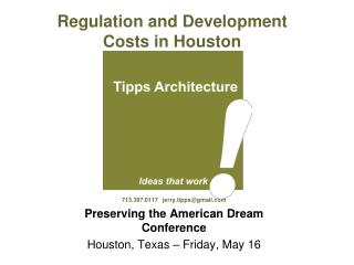 Regulation and Development Costs in Houston