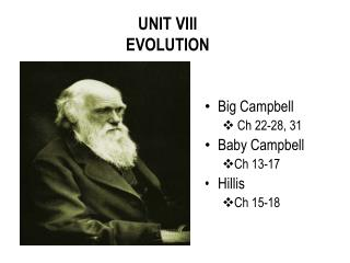 UNIT VIII  EVOLUTION