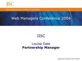 Web Managers Conference 2004