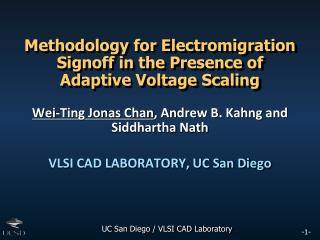 Methodology for Electromigration Signoff in the Presence of Adaptive Voltage Scaling