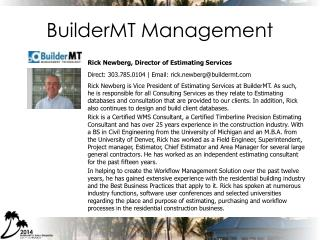 BuilderMT Management