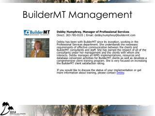 BuilderMT Management
