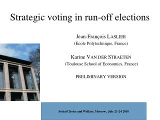 Strategic voting in run-off elections
