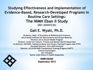 NIMH/NIAID September 2013