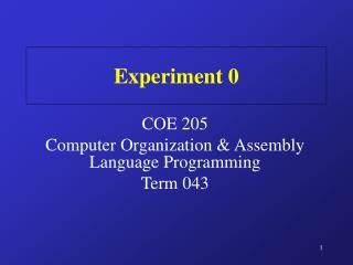 Experiment 0