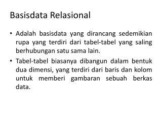 Basisdata Relasional