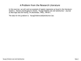 A Problem from the Research Literature