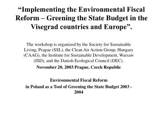 Environmental Fiscal Reform