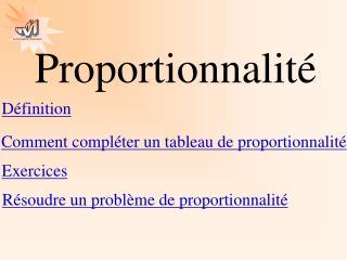 Proportionnalité