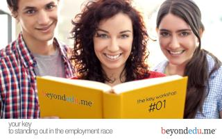your key to standing out in the employment race