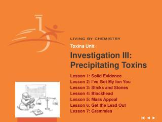 Toxins Unit