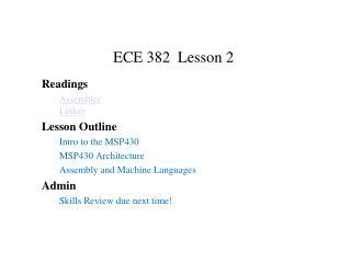 ECE 382 Lesson 2