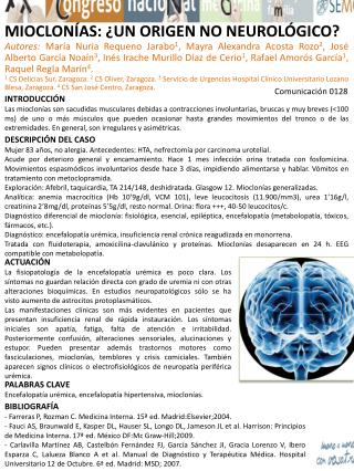 MIOCLONÍAS: ¿UN ORIGEN NO NEUROLÓGICO?