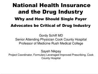 Gordy Schiff MD
