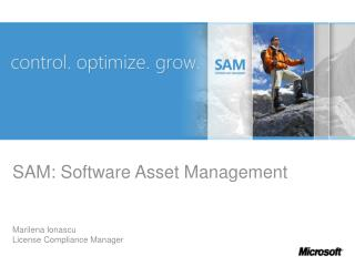SAM: Software Asset Management