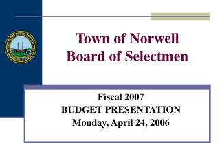 Town of Norwell Board of Selectmen