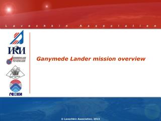 Ganymede Lander mission  overview