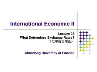 International Economic II