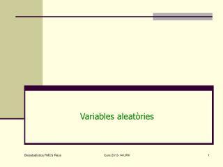 Variables aleatòries