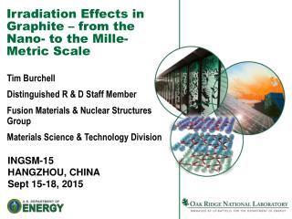 Irradiation Effects in Graphite – from the Nano- to the Mille-Metric Scale