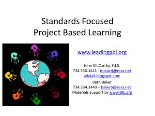 Standards Focused Project Based Learning