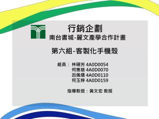 行銷企劃 南台書城 - 麗文產學合作計畫