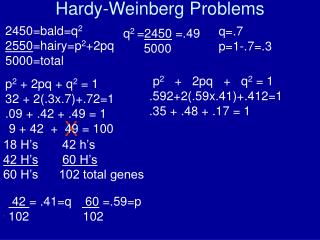 Hardy-Weinberg Problems