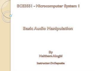 Basic Audio Manipulation