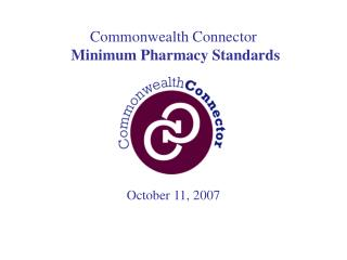 Commonwealth Connector Minimum Pharmacy Standards