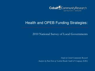 Health and OPEB Funding Strategies: