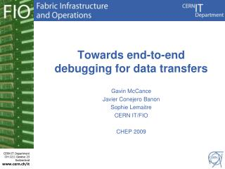 Towards end-to-end debugging for data transfers