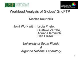 Workload Analysis of Globus' GridFTP