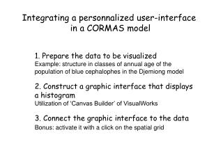 Integrating a personnalized user-interface in a CORMAS model